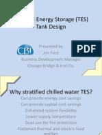 Thermal Energy Storage Tank Design