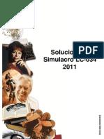 Solucionario Simulacro LC - 034 2011