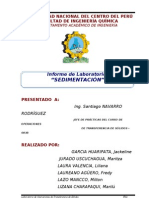 Informe de Laboratorio de Sedimentación