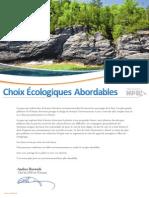 Choix Écologiques Abordables