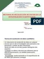Técnica de recolección de datos cuantitativa