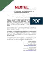 CFC integra denuncia de Nextel a la evaluación de concentración Iusacell-Televisa