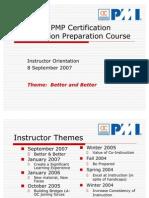 PMI-OC Instructor Orientation 2.3