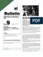 Metal Bulletin zine # 9