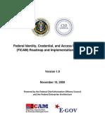 FICAM Roadmap Implementation Guidance
