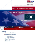 Identity Credential and Access Management FICAM Ecosystem 6-10-11
