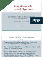 Writing Measurable Objectives 2