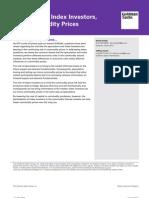 [Goldman Sachs] Speculators, Index Investors, And Commodity Prices