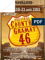 Gramat Country Festival in the Lot department of south west FranceProgramme 2011