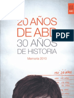 ABD Memoria de actividades 2010 castellano