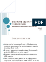 Project Report Guidelines 2011