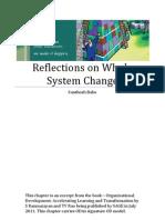 Reflections on Whole System Change (LGI)