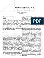 ANT Challenges in Cognitive Radio