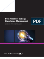 Best Practices in Legal Knowledge Management TOC