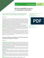 Variación del péptido beta amiloide (1-42) en plasma en pacientes sometidos a anestesia