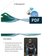 Chemical fate and transport in the environment.