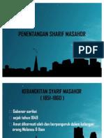 PENENTANGAN SHARIF MASAHOR