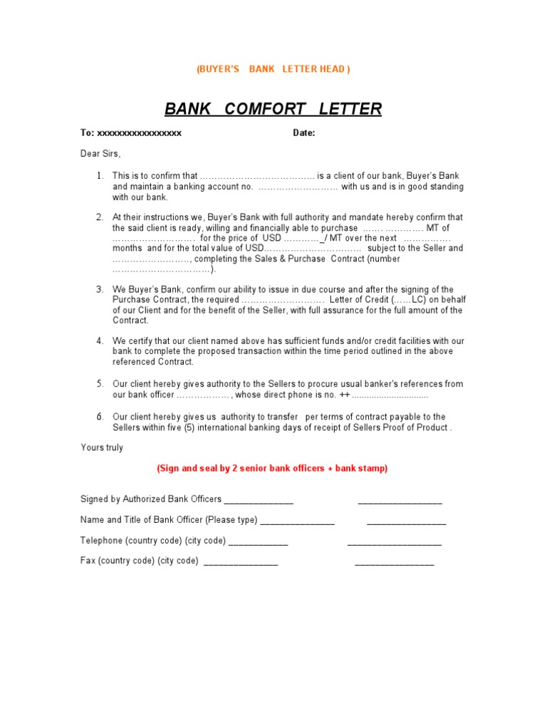 Bank confirmation letter sample 3 spiritdancerdesigns Gallery