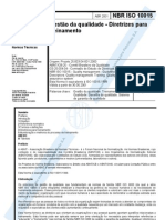 NBR ISO 10015 - 2001 - Diretrizes Para Treinamento