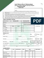 Admission Form 2011