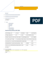 Ifrs Approach in SAP