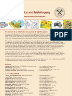 """CALL FOR PAPERS for the NEW """"Global Tectonics & Metallogeny"""""""
