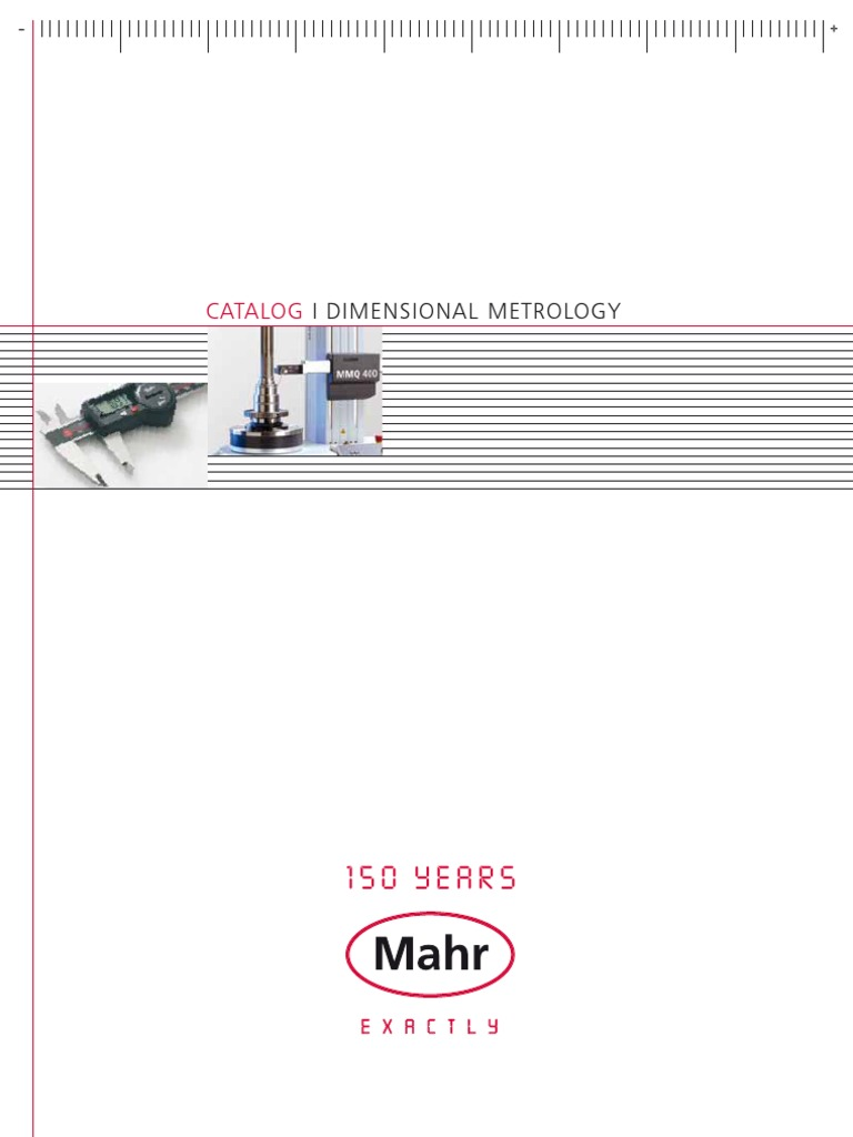 Mahr 3759665 FL Dimensional Metrology Catalog USA 2011 En | Scientific  Observation | Technology