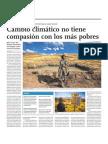 Cambio climático no tiene compasión con los màs pobres
