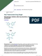New Tuberculosis Drug Target | Latest News | Chemical & Engineering News
