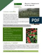 BOLETIN BENEFICIOS DE LA PRODUCCIÓN DE CAFÉ ORGÁNICO EN EL MUNICIPIO DE MARCALA, LA PAZ