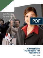 NTU Admissionshandbook07-08