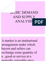 Basic Demand and Supply Analysis