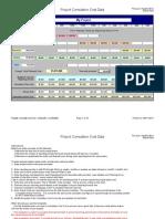 Cumulative Cost Curve Dollars Sample Data
