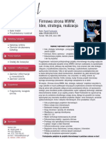 Firmowa strona WWW. Idee, strategia, realizacja