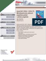 AutoCAD 2004 i 2004 PL. Minisłowniczek poleceń