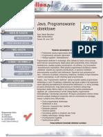 Java. Programowanie obiektowe
