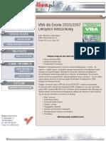 VBA dla Excela 2003/2007. Leksykon kieszonkowy