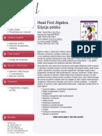Head First Algebra. Edycja polska (Rusz głową!)