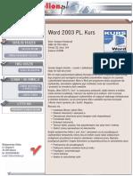 Word 2003 PL. Kurs
