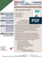100 sposobów na PHP