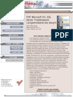 PHP, Microsoft IIS i SQL Server. Projektowanie i programowanie baz danych