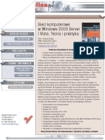Sieci komputerowe w Windows 2003 Server i Vista. Teoria i praktyka