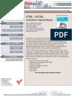 HTML i XHTML. Leksykon kieszonkowy