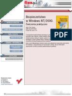 Bezpieczeństwo w Windows NT/2000. Ćwiczenia praktyczne