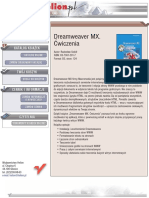 Dreamweaver MX. Ćwiczenia