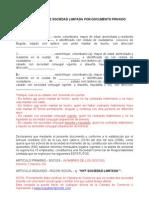 3314 Modelo de Estatutos Sociedad Limitada