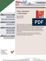 Testy maturalne z informatyki
