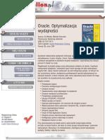 Oracle. Optymalizacja wydajności
