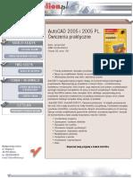 AutoCAD 2005 i 2005 PL. Ćwiczenia praktyczne