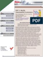 PHP 5 i MySQL. Zastosowania e-commerce